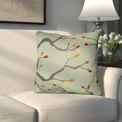 Bramhall Outdoor Throw Pillow Size: 18 H x 18 W x 4 D, Color: Green/Brown/Orange/Red