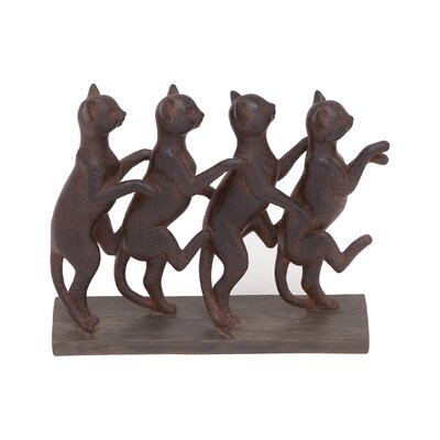 Row of Standing Cats Figurine THPS2288 34912853