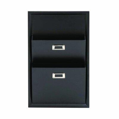 Lavallie Wood Magazine Rack Color: Black THPS2309 34912877
