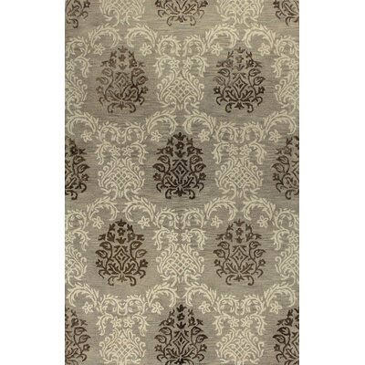 Davidson Hand-Tufted Taupe Area Rug Rug Size: 79 x 99
