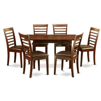 Phoenixville 7 Piece Dining Set Chair Upholstery: Faux Leather