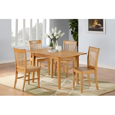 Phoenixville 5 Piece Dining Set Finish: Oak, Chair Upholstery: Upholstered
