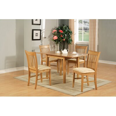 Phoenixville 7 Piece Dining Set Finish: Oak, Chair Upholstery: Upholstered