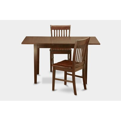 Phoenixville 3 Piece Dining Set Finish: Mahogany, Chair Upholstery: Upholstered