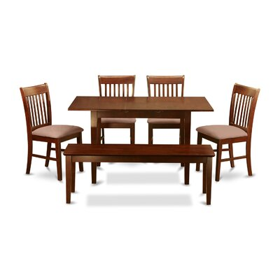 Phoenixville 6 Piece Dining Set Chair Upholstery: Upholstered