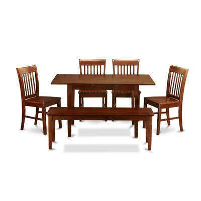 Phoenixville 6 Piece Dining Set Chair Upholstery: Non-Upholstered Wood
