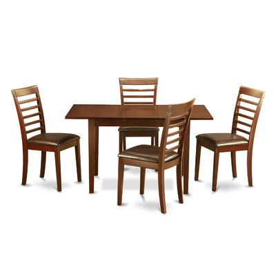 Phoenixville 5 Piece Dining Set Chair Upholstery: Faux Leather
