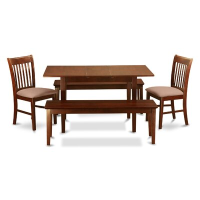 Phoenixville 5 Piece Dining Set Chair Upholstery: Upholstered