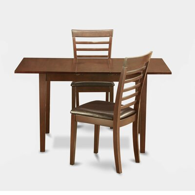 Phoenixville 3 Piece Dining Set Chair Upholstery: Faux Leather