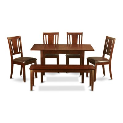 Phoenixville 6 Piece Dining Set Chair Upholstery: Faux Leather