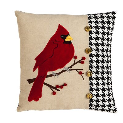 Donellan Cardinal Houndstooth Throw Pillow