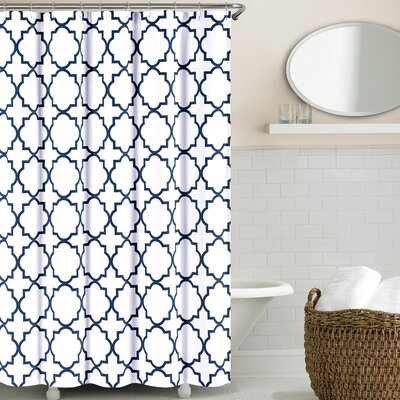 Prattsburgh Cotton Shower Curtain Color: Navy