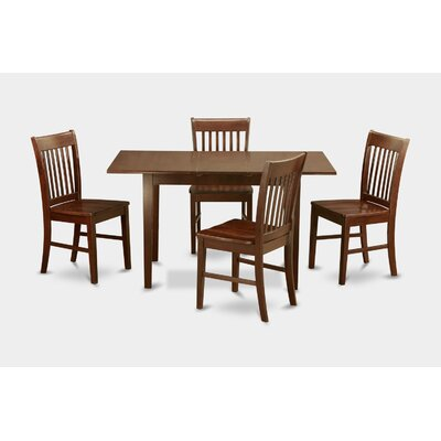 Phoenixville 5 Piece Dining Set Chair Upholstery: Non-Upholstered Wood, Finish: Mahogany