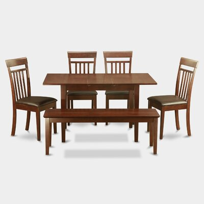 Phoenixville Faux Leather 6 Piece Dining Set