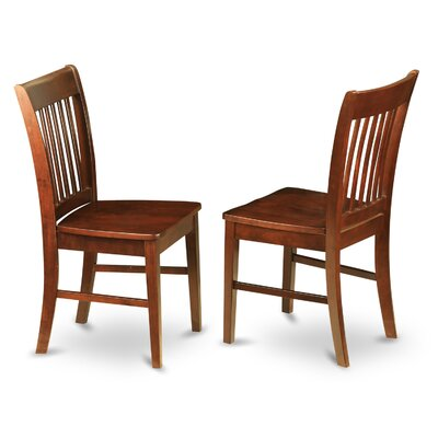 Phoenixville Side Chair (Set of 2) Side Chair Finish: Mahogany, Side Chair Upholstery: Wood