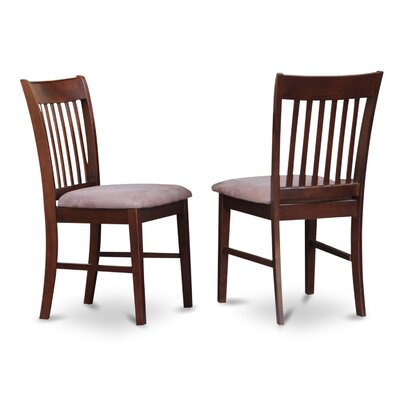 Phoenixville Solid Wood Dining Chair (Set of 2) Finish: Mahogany