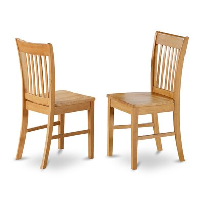 Phoenixville Solid Wood Dining Chair (Set of 2) Finish: Oak