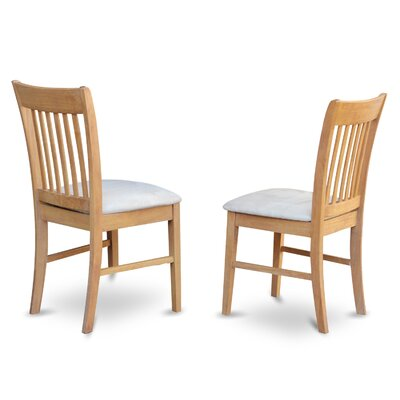 Phoenixville Upholstered Dining Chair (Set of 2) Upholstery Color: Off White, Frame Color: Oak