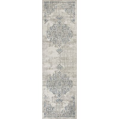 Lappin Ivory/Gray Area Rug Rug Size: Runner 23 x 76