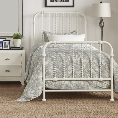 Elyse Bed Frame Finish: Antique White, Size: Full
