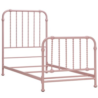 Elyse Bed Frame Finish: Light Pink, Size: Twin