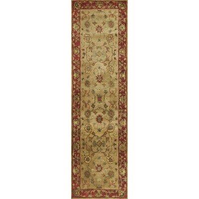 Deford Sand / Rust Tabriz Area Rug Rug Size: 33 x 53