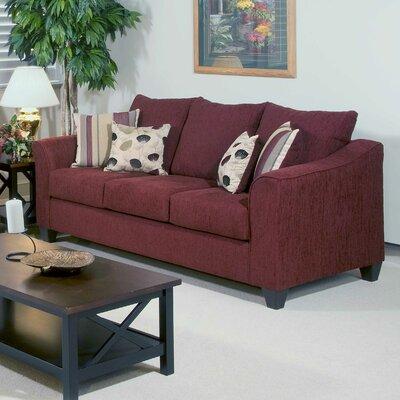 Serta Upholstery Oppenheim Sofa Upholstery: Flyer Wine