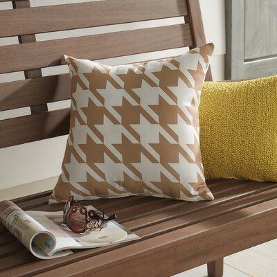 Donaldson Geometric Outdoor Throw Pillow Color: Brown