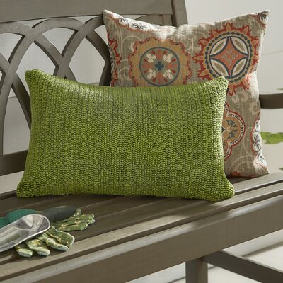 Providence Outdoor Lumbar Pillow Color: Tropical Green