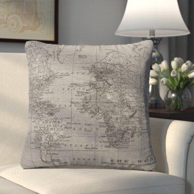 Blarwood Map Feathered Throw Pillow