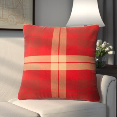 Loom and Mill Bradley Throw Pillow Color: Lava