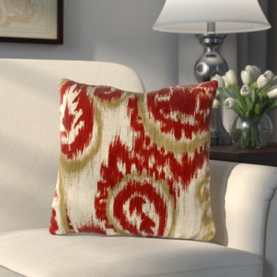 Paisley Outdoor Throw Pillow Color: Sorista Cherry