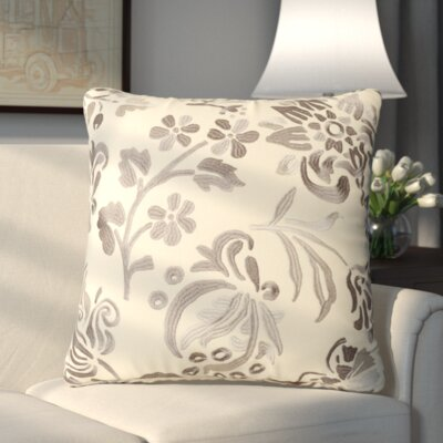 Loom and Mill Claire Throw Pillow Color: Pristine