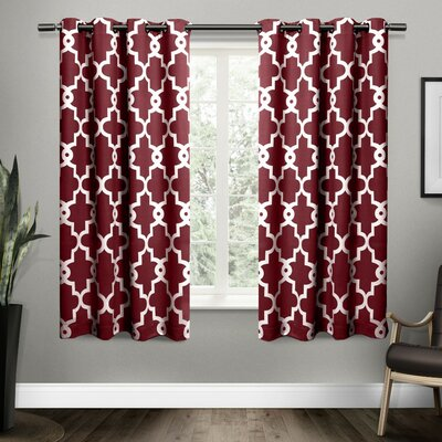 Fairlawn Geometric Blackout Thermal Grommet Curtain Panels