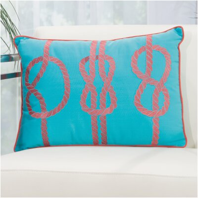 Nautical Knot Indoor/Outdoor Pillow Color: Sky Blue/Red