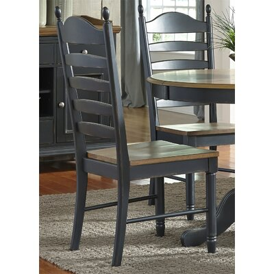 Franca Ladder Back Solid Wood Dining Chair (Set of 2)