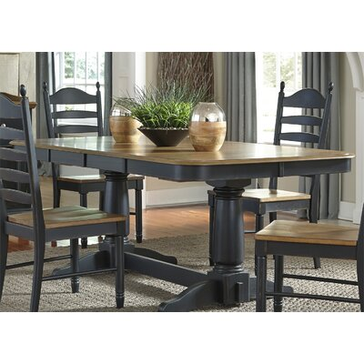 Franca Double Pedestal Table