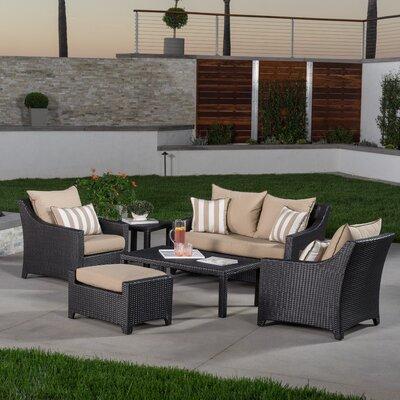 Northridge 6 Piece Deep Seating Group with Cushions Fabric: Maxim Beige