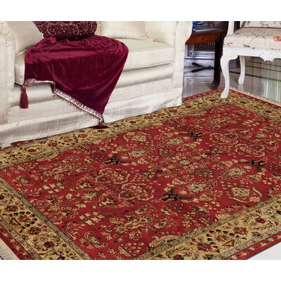 Defranco Hand-Tufted Red Area Rug Rug Size: 96 x 136