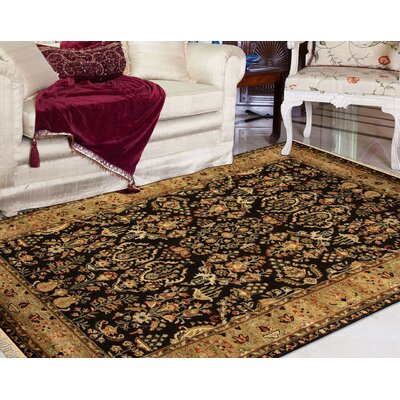 Defranco Hand-Tufted Black Area Rug Rug Size: Rectangle 2' x 3'