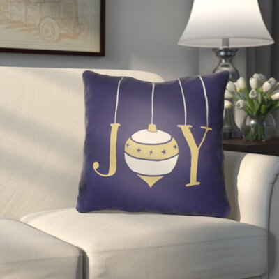 Wynne Indoor/Outdoor Throw Pillow Size: 18 H x 18 W x 4 D, Color: Blue / Yellow / White