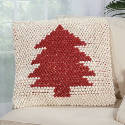 Bivens Wool Throw Pillow Color: Red/Ivory