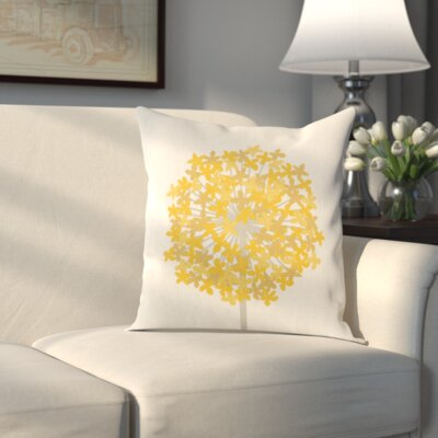Pottsville Pillow Cover Size: 22 H x 22 W x 1 D, Color: Neutral/Yellow
