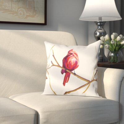 Hamburg Cardinal Print Throw Pillow Size: 26 H x 26 W x 1 D
