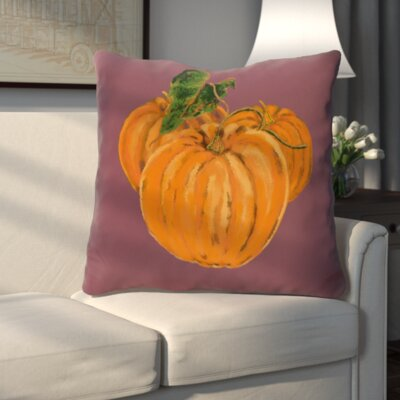 Tres Calabazas Holiday Print Throw Pillow Color: Purple