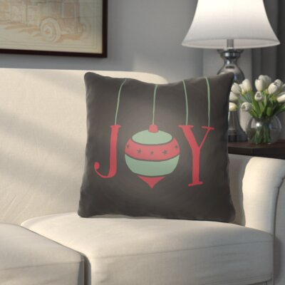 Wynne Indoor/Outdoor Throw Pillow Size: 20 H x 20 W x 4 D, Color: Black / Green / Red