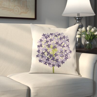 Pottsville Pillow Cover Size: 18 H x 18 W x 1 D, Color: Green/Purple