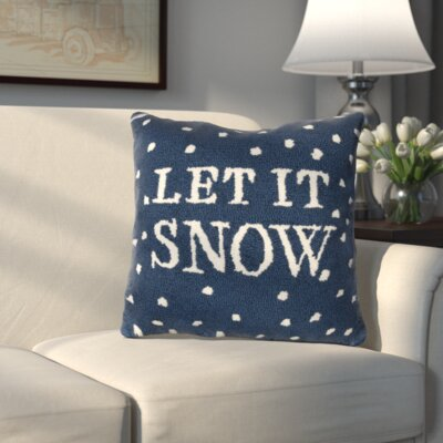 Let it Snow Hooked Throw Pillow
