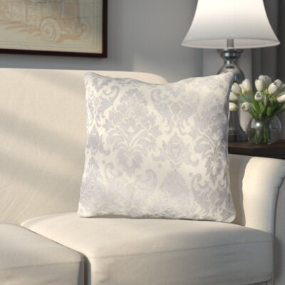Rossiter Throw Pillow Color: Silver White