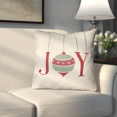 Wynne Indoor/Outdoor Throw Pillow Size: 18 H x 18 W x 4 D, Color: White / Green / Red
